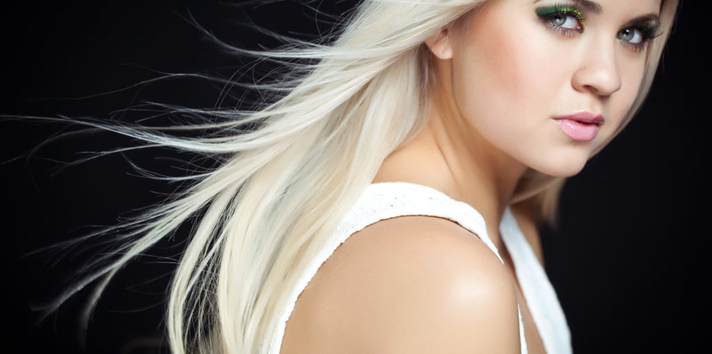 Really sexy , white blond hair done on naturally medium blond base color.